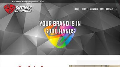 Custom WordPress website design Snyders Graphics mitchell, ontario marketing skilled trades construction landscaping