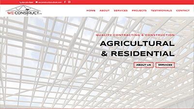 website design WeConstruct Ltd. Contractor construction