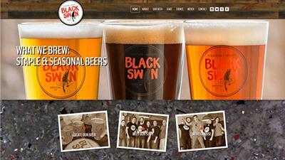 Custom website design Snyders Graphics mitchell, ontario marketing black swan brewing